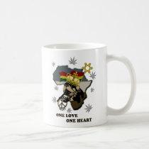 colorful, illustration, pop, funny, cute, cool, vintage, animal, reggae, rasta, africa, jamaica, dog, pop art, Mug with custom graphic design