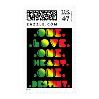 ONE LOVE, ONE HEART, ONE DESTINY POSTAGE