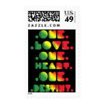ONE LOVE, ONE HEART, ONE DESTINY STAMPS