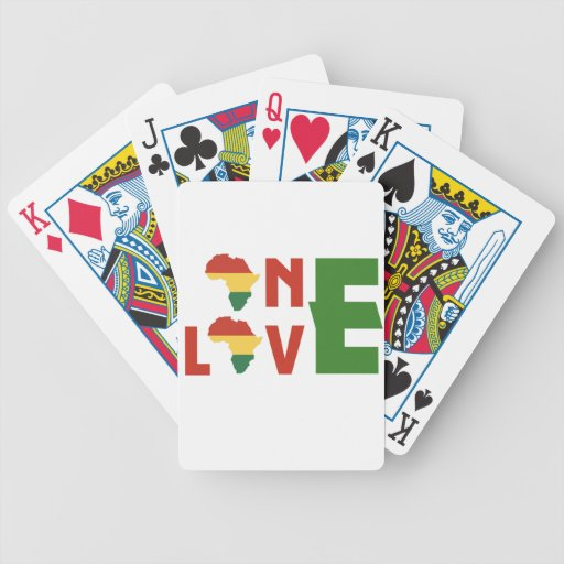One love playing cards