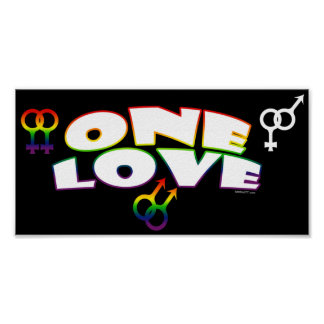 One Love Rainbow Posters