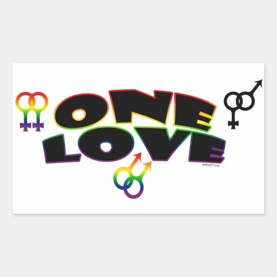One Love rainbow Stickers