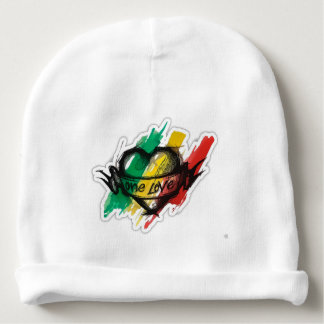 one love rasta reggae graffiti flag baby beanie