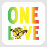 One Love Square Stickers