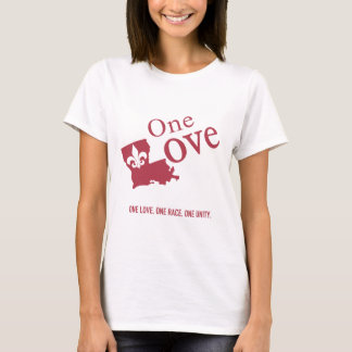 One Love with Fleur De Lis Basic Shirt for Female