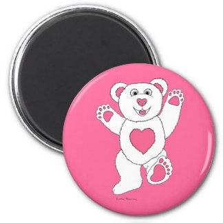 One Lucky Teddy (pink) Magnet