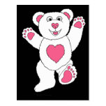 One Lucky Teddy (pink) Post Card