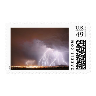 One Mad Storm over Ridgecrest Postage