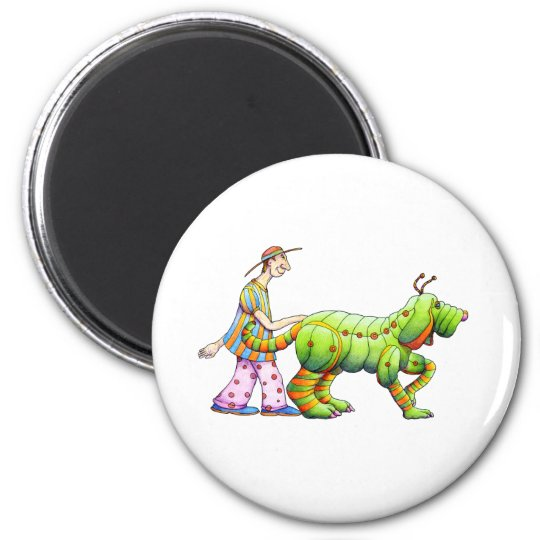 one man and his dogerpillar copy magnet