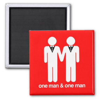ONE MAN AND ONE MAN -.png 2 Inch Square Magnet