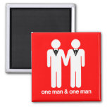 ONE MAN AND ONE MAN -.png Fridge Magnet