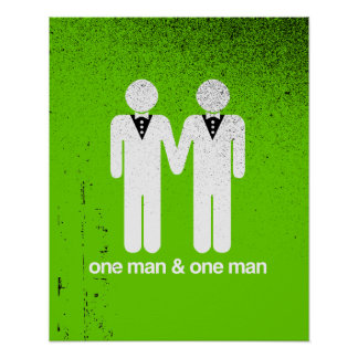 ONE MAN AND ONE MAN -.png Poster