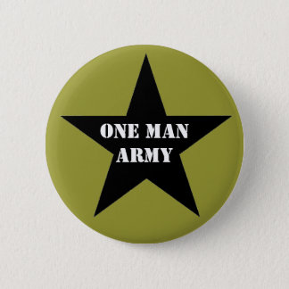 One Man Army Button