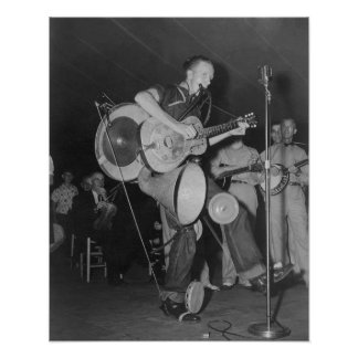 One Man Band, 1938. Vintage Photo Poster