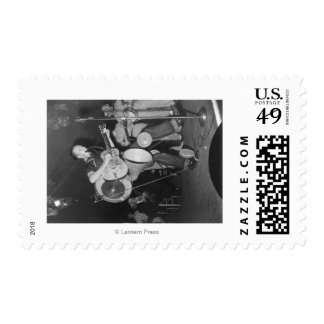 One-man Band at Mountain Music Festival Postage Stamp