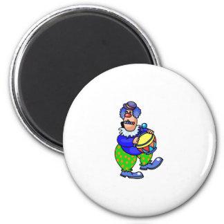One Man Band Clown Magnet