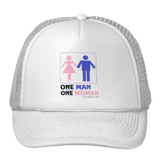 One Man One Woman Mesh Hats