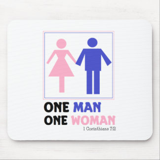 One Man One Woman Mouse Pad