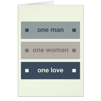 One Man, One Woman, One Love Card