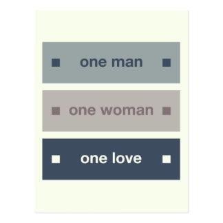One Man, One Woman, One Love Postcard