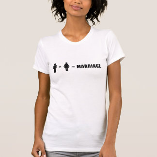 One Man Plus One Woman Equals Marriage T-Shirt