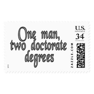 One man, two doctorate degrees postage stamp