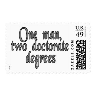 One man, two doctorate degrees stamp