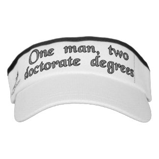 One man, two doctorate degrees visor
