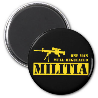 One Man Well Regulated Militia Magnet