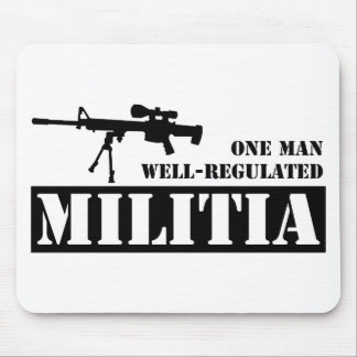 One Man Well Regulated Militia Mouse Pad