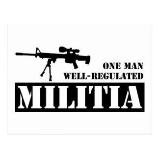 One Man Well Regulated Militia Postcard