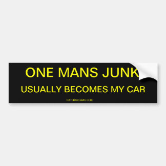 ONE MANS JUNK BUMPER STICKER
