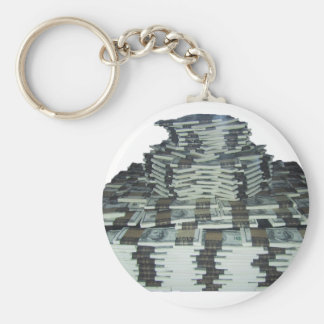 One Million Dollars Basic Round Button Keychain