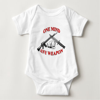 One Mind Any Weapon MCMAP Baby Bodysuit