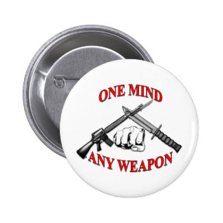 One Mind Any Weapon MCMAP Pins