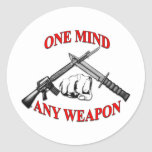 One Mind Any Weapon MCMAP Classic Round Sticker