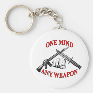 One Mind Any Weapon MCMAP Keychains