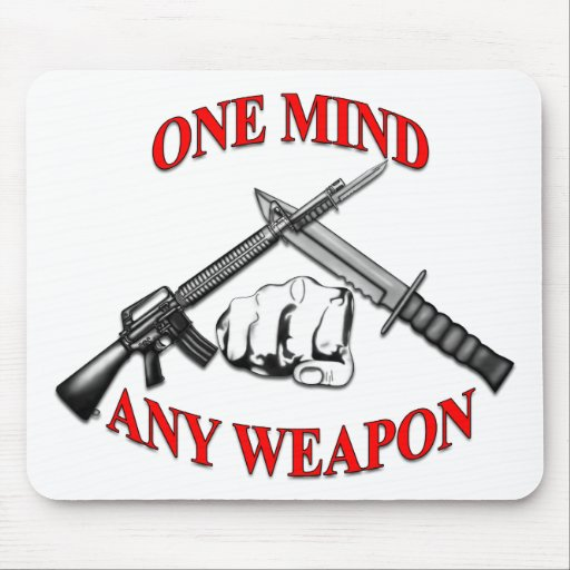 One Mind Any Weapon MCMAP Mouse Pad