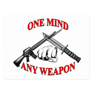 One Mind Any Weapon MCMAP Postcard
