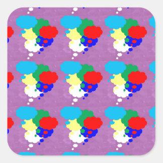 One MIND multiple THOUGHTS NVN184 NavinJOSHI FUN Square Sticker