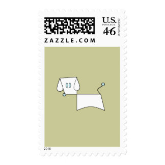 One Minute PowerPoint Dog Postage Stamps