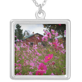 One Minute Vacations Silver Plated Necklace
