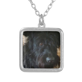 One Mischievous Dog Silver Plated Necklace