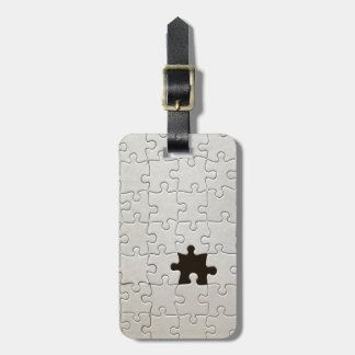 One Missing Puzzle Piece Bag Tag