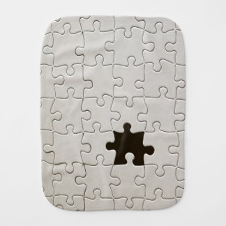 One Missing Puzzle Piece Burp Cloth