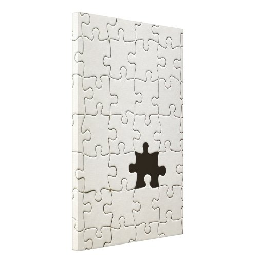 One Missing Puzzle Piece Canvas Print