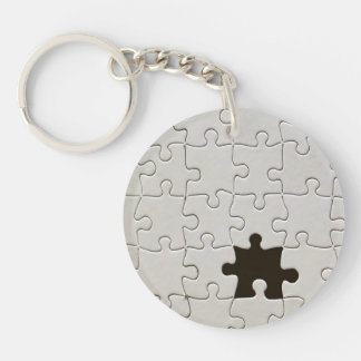 One Missing Puzzle Piece Keychain