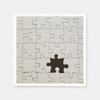 One Missing Puzzle Piece Paper Napkin