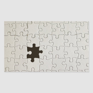 One Missing Puzzle Piece Rectangular Sticker
