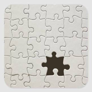 One Missing Puzzle Piece Square Sticker